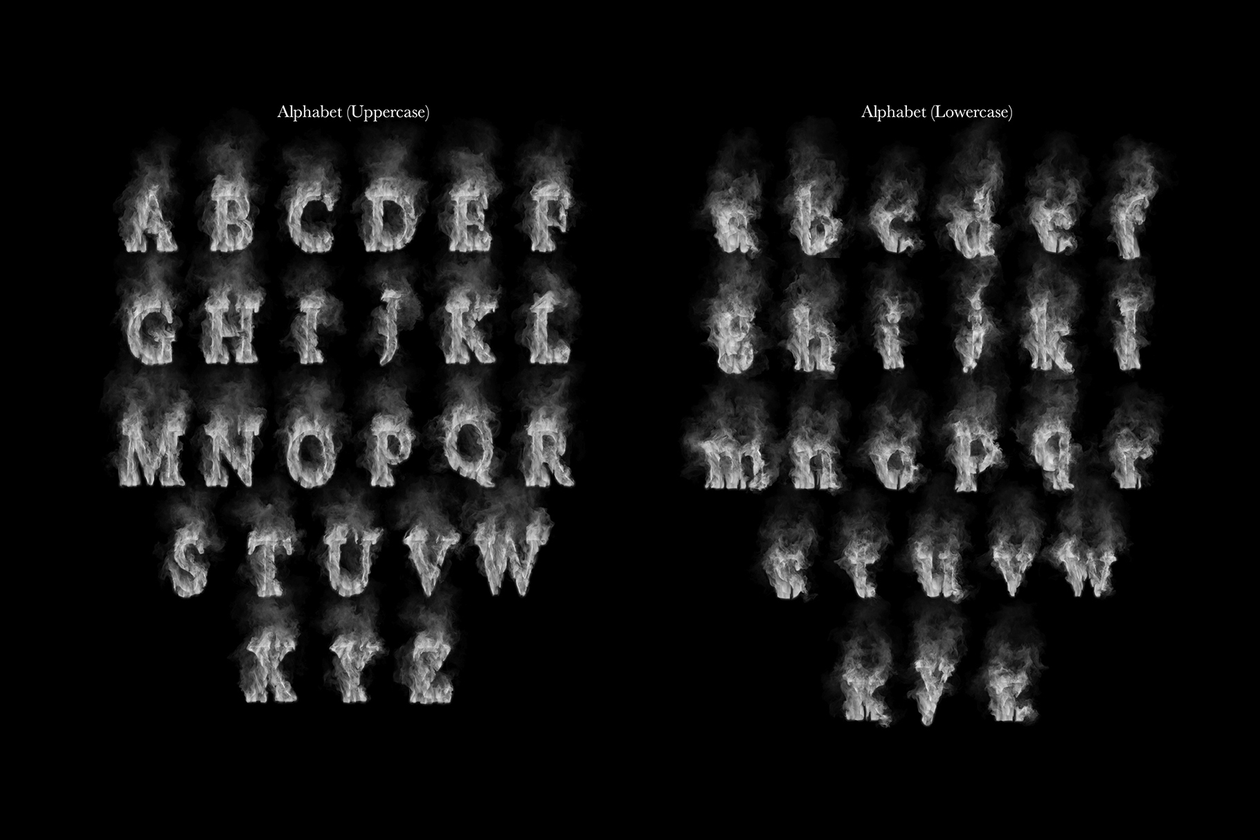 smoke letters    font animation