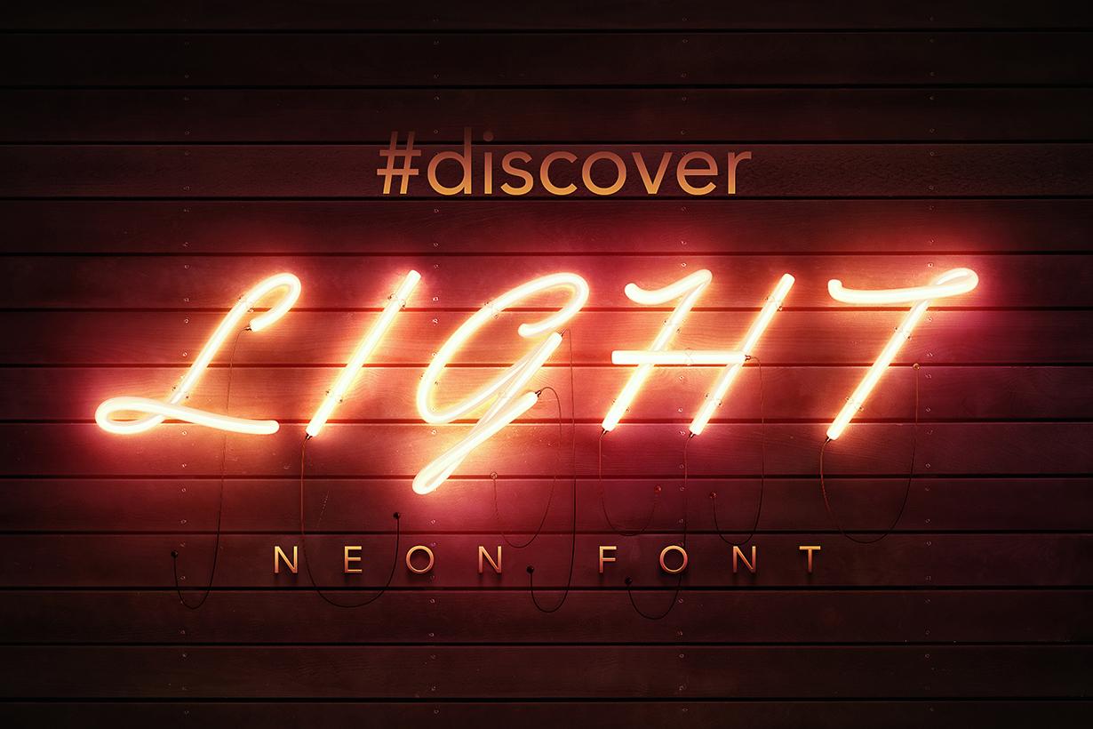 PSD Neon Font - GK Mockups Store
