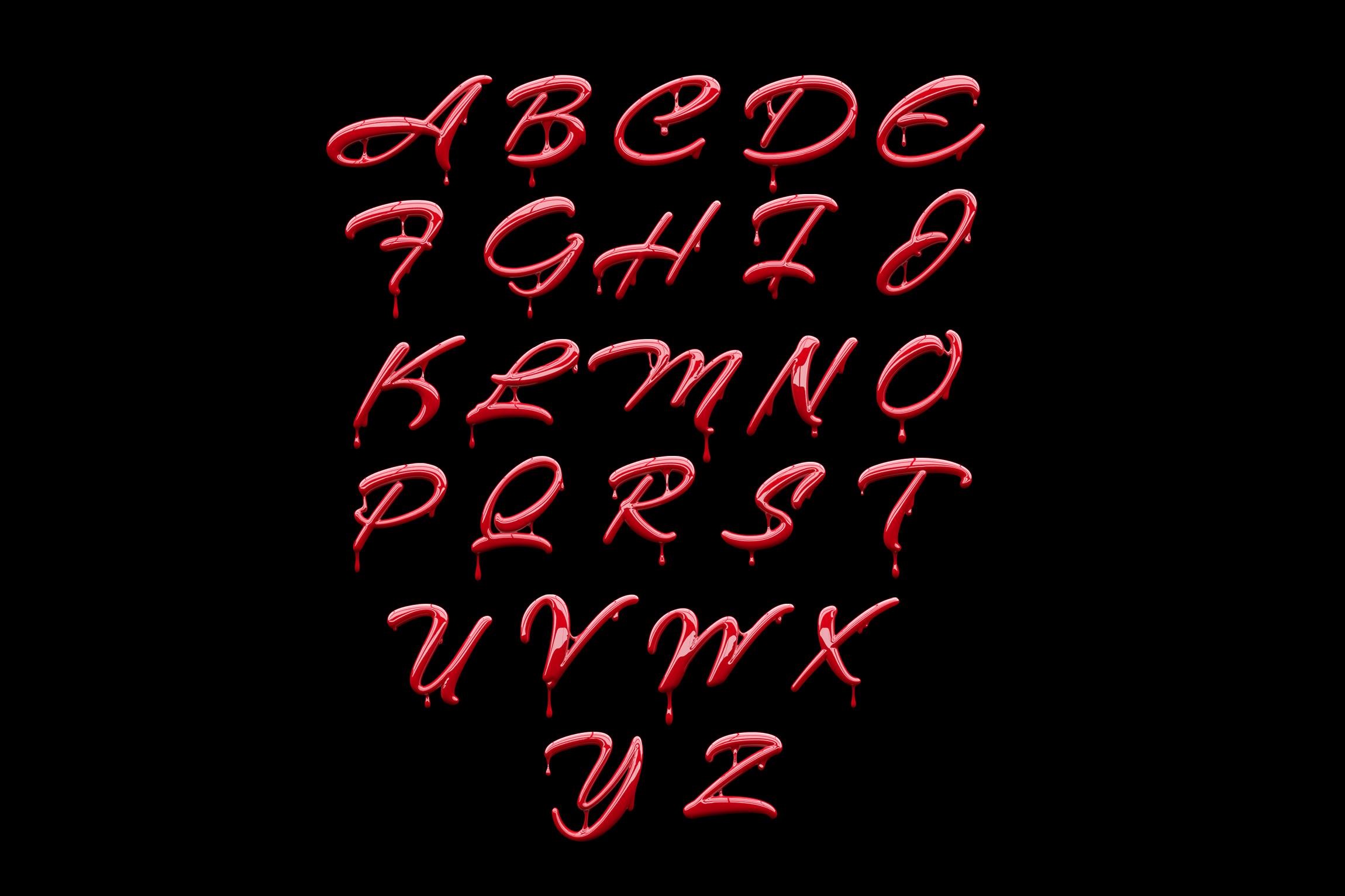 3D Paint Psd Font for Photoshop - GK Mockups Store