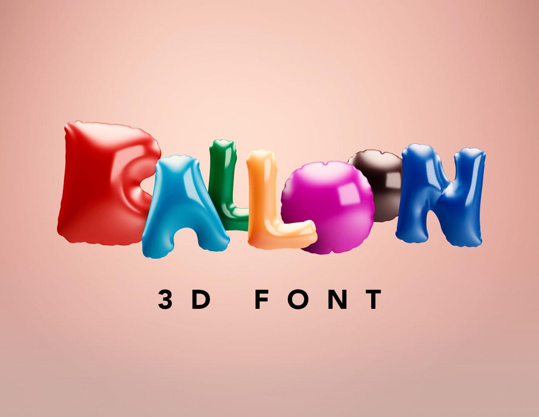 Balloon 3D Font